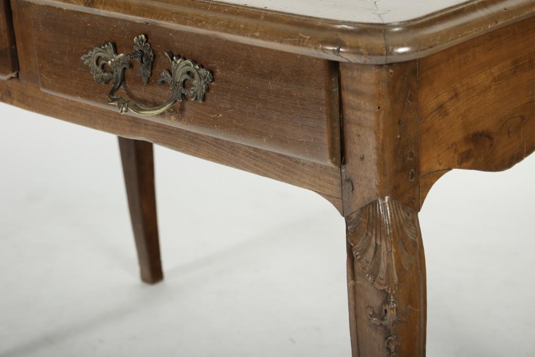 19th C. French Provincial Walnut Writing Desk - 2