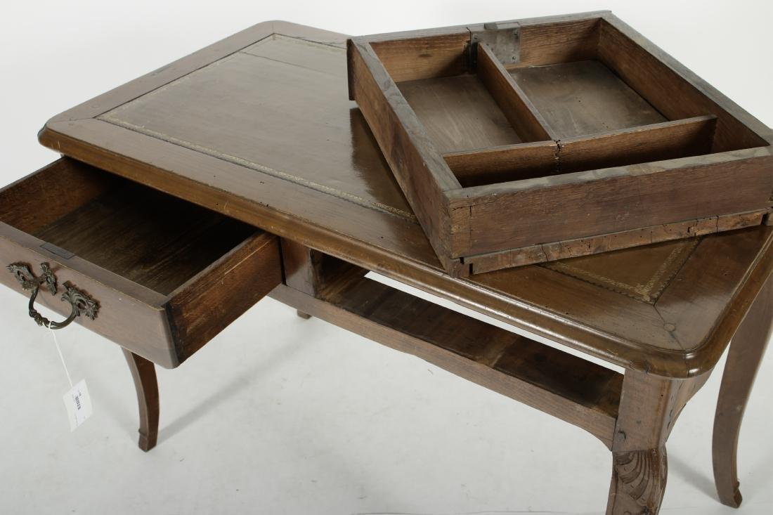 19th C. French Provincial Walnut Writing Desk - 4