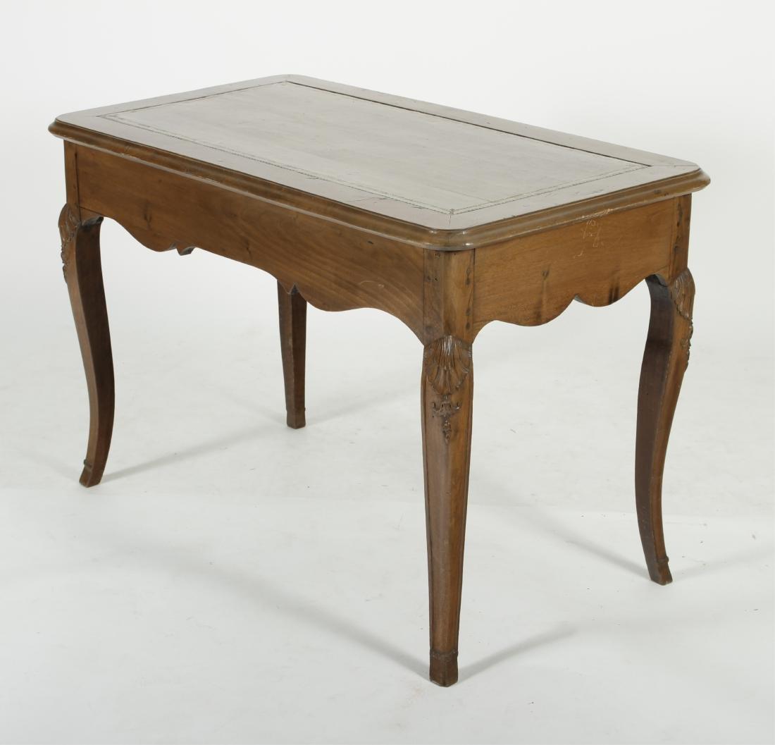 19th C. French Provincial Walnut Writing Desk - 5