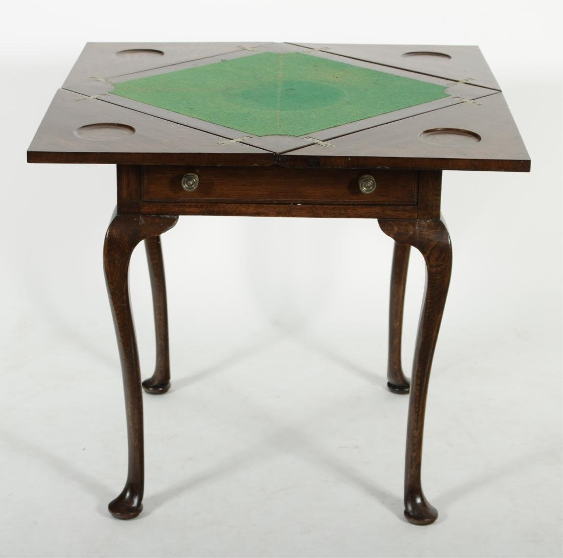 Queen Anne Style Oak Games Table
