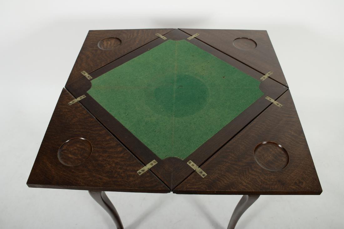 Queen Anne Style Oak Games Table - 2