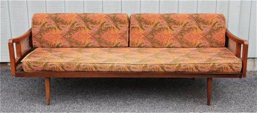 Mcm Sofa With Paisley Upholstery Feb