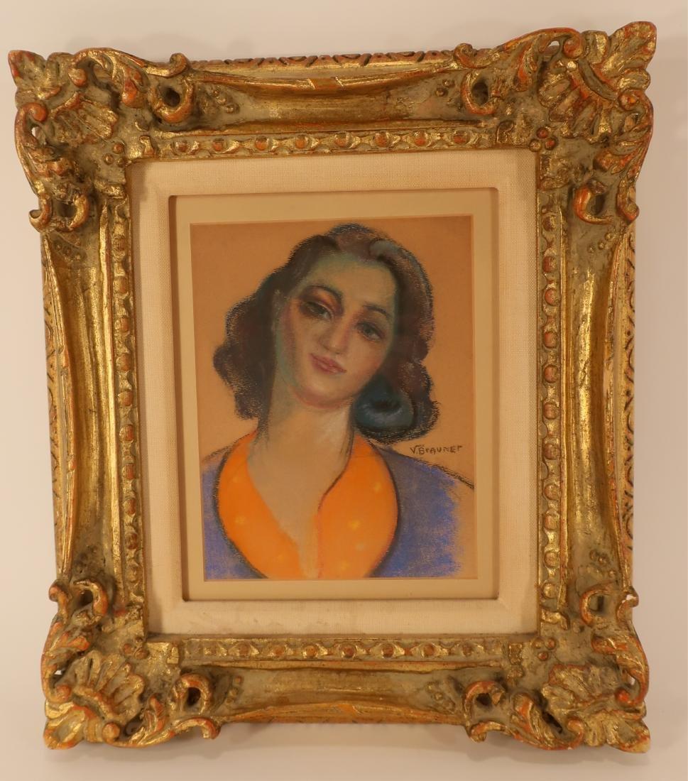 After Victor Brauner, Portrait, pastel on paper