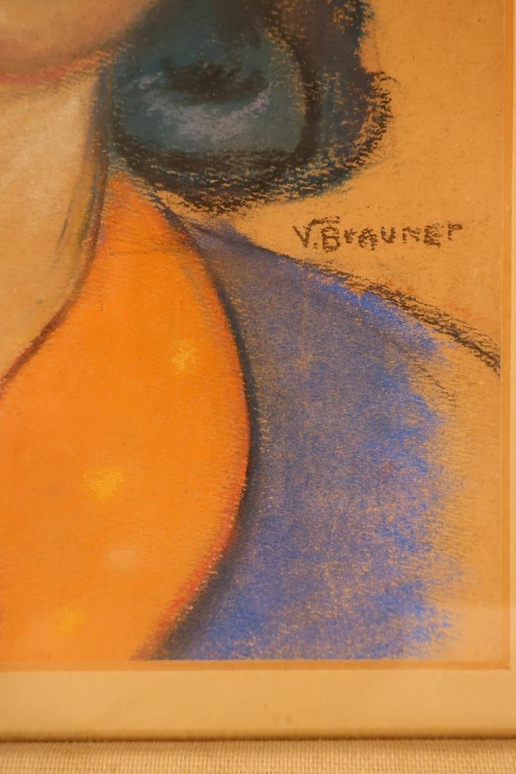 After Victor Brauner, Portrait, pastel on paper - 3