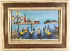 Walt Gonske  Am, b. 1942, Evening in Venice O/C