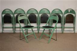 Set of (8) Stakmore Vintage Folding Chairs