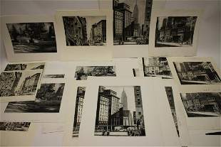 Lawrence N. Wilbur, 23 Etchings/Dry Points