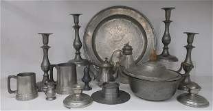 15 Pieces of Antique & recent Pewter
