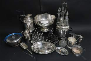 21 Pieces of Assorted Silver Plate