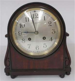 Bigelow Kennard Mahogany Mantel Clock