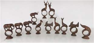 Set of 12 African Napkin Holders