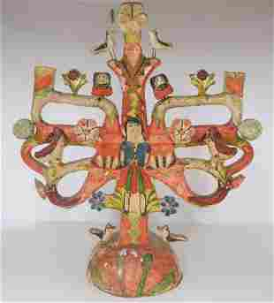 Mexican Pottery Candelabrum