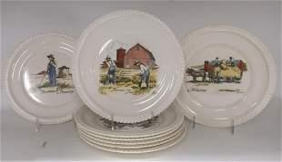 Eric Sloane Designs Dinner Plates Delano Studios