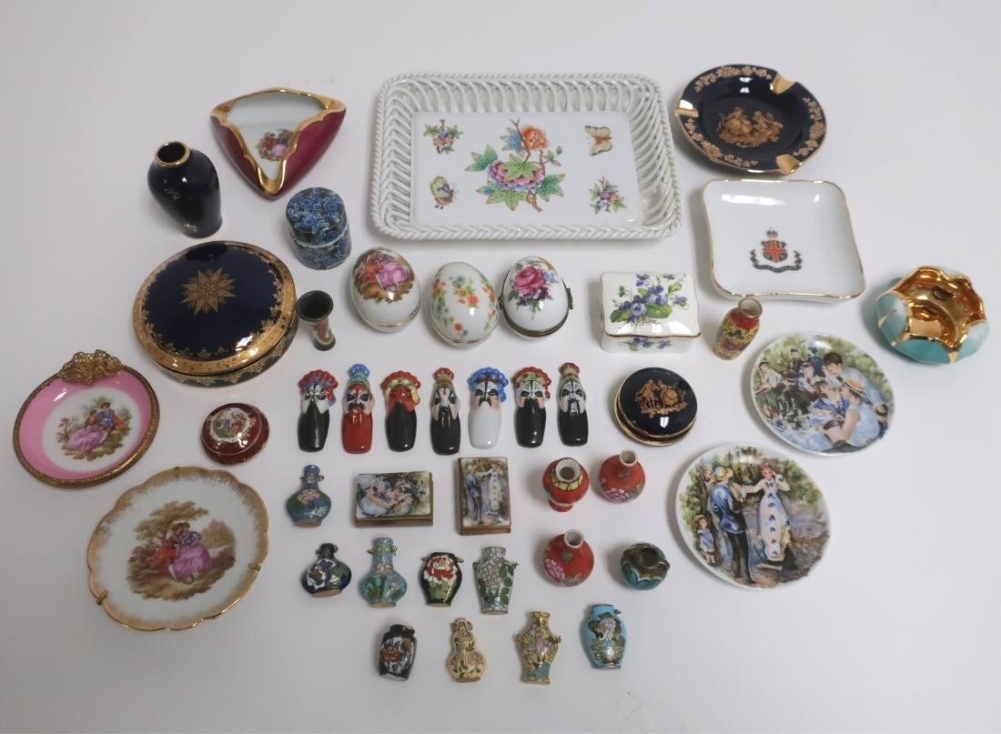 Grp. of European +  Asian Porcelains & Miniatures