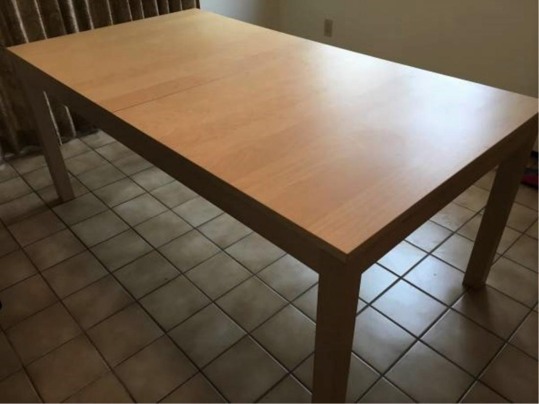 Ikea Bjursta Extension Dining Work Birch Table Jun 26 2019 Litchfield Auctions In Ct