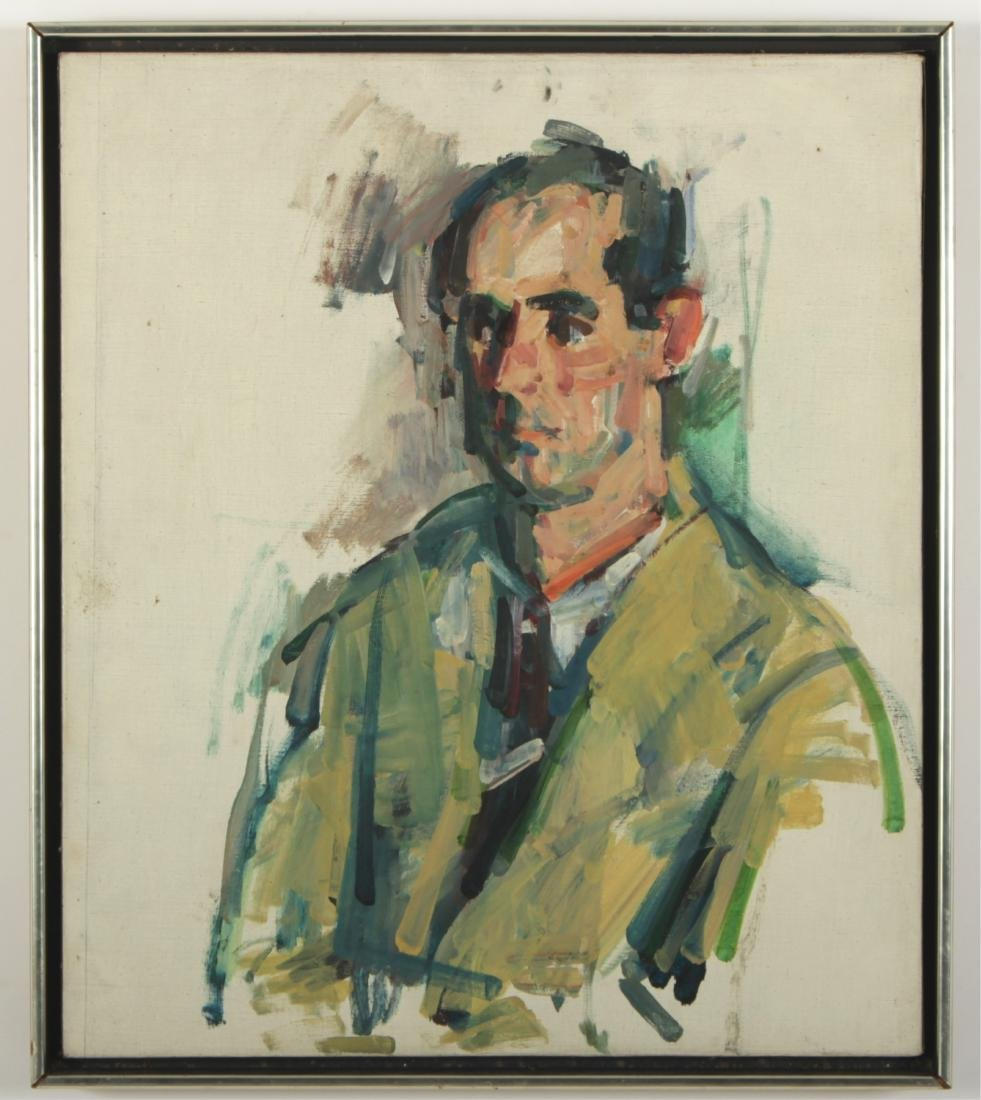 Portrait of Philip Roth Oil on Canvas, Unsigned
