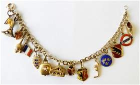 14K European Inspired Charm Bracelet