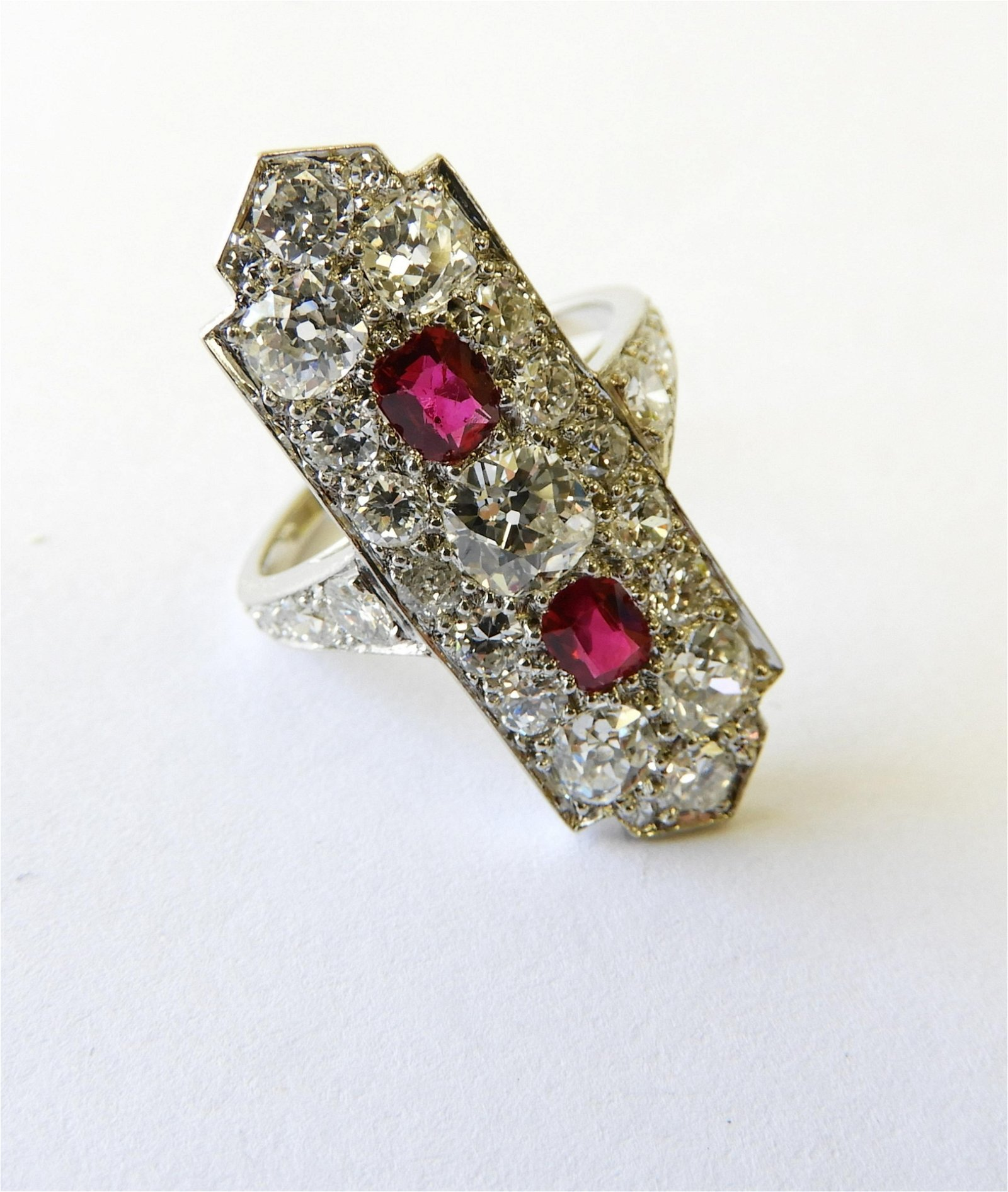 Cartier - Ruby & Diamond Cocktail Ring