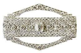 Lambert Bros. Platinum & Diamond Brooch