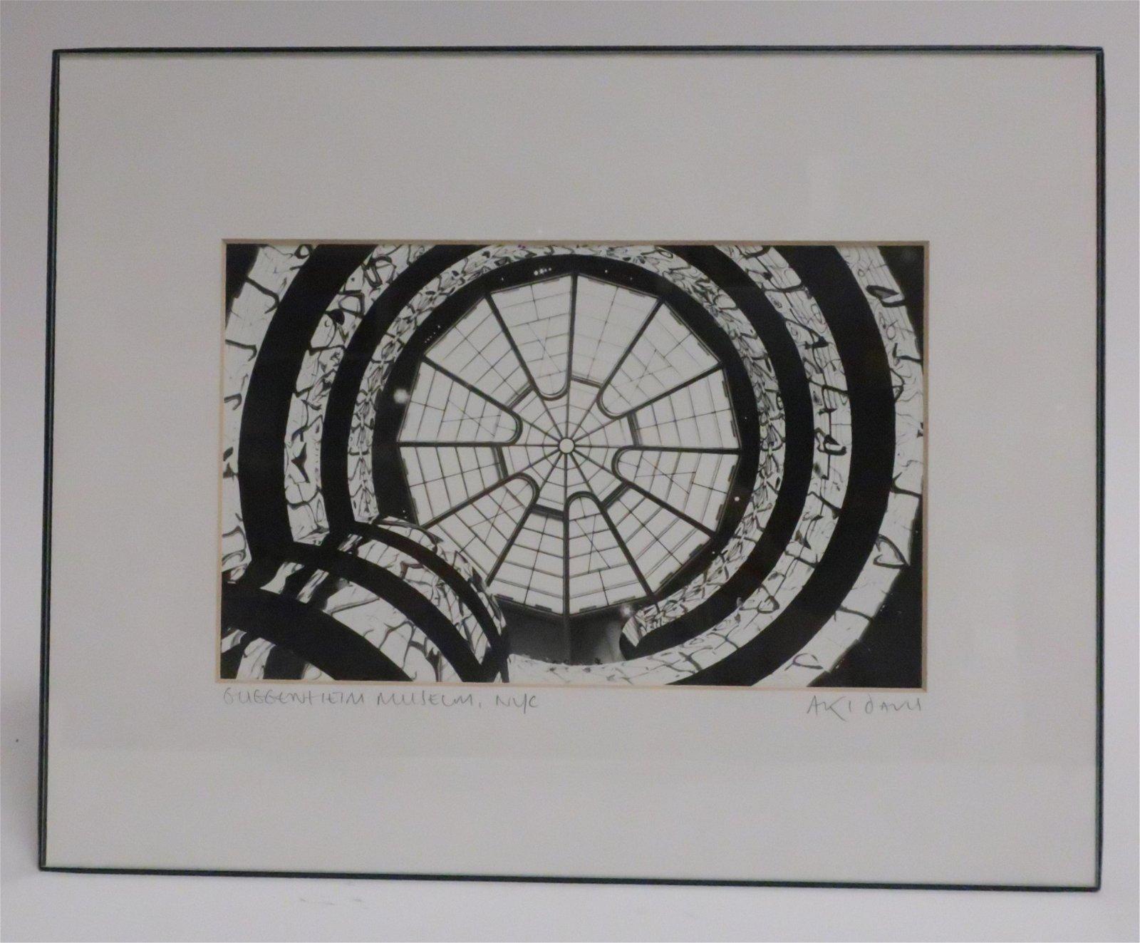 "Aki Davis, Am. ""Guggenheim Museum"" photograph"