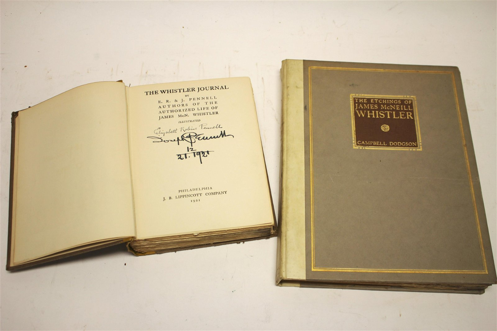 2 Books, 1 Author Signed The  Whistler Journal