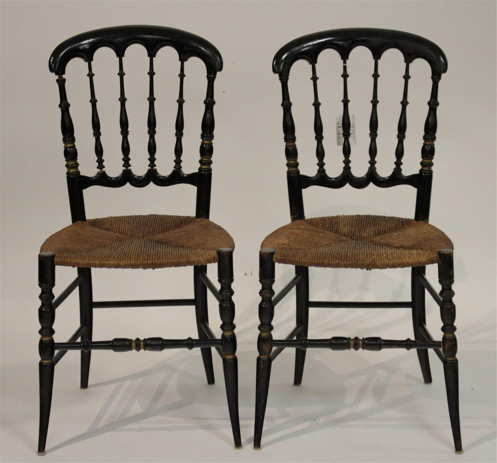 Pr. Antique Fancy Side Chairs
