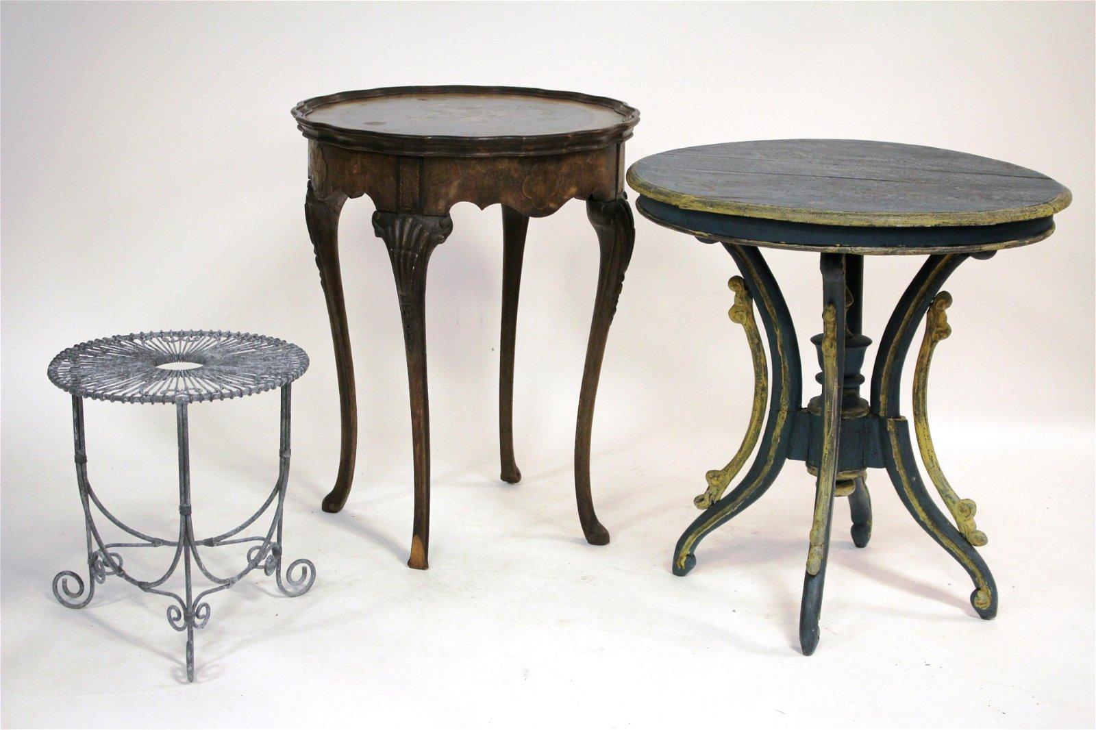 Three Circular Decorator Tables