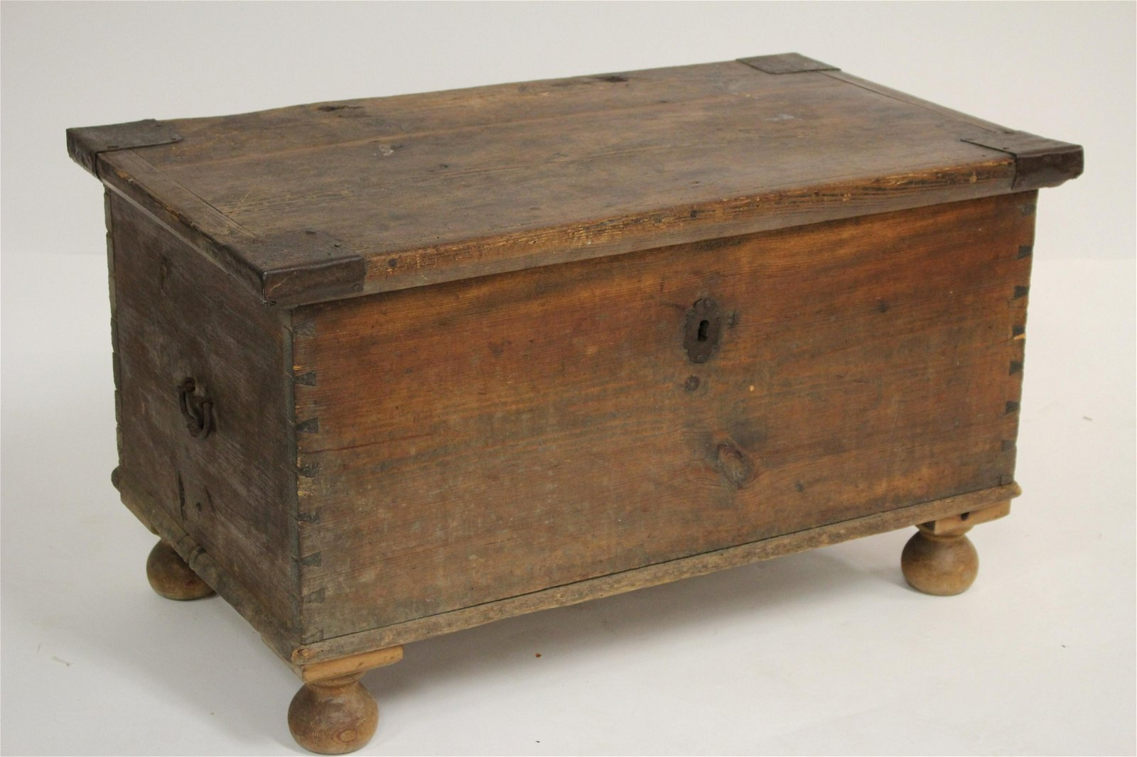 Early American Pine Blanket Chest