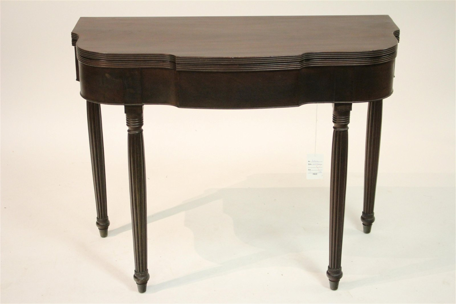 Federal Style Mahogany Games Table, 19th C.