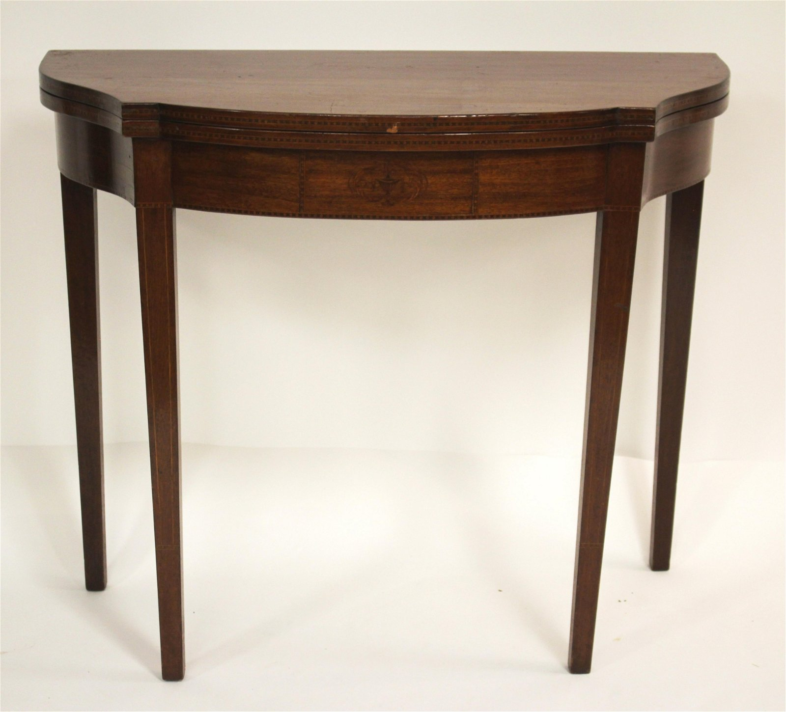 Federal Style Inlaid Lift Top Table, 19th C.