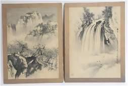 Pair Chinese Paintings