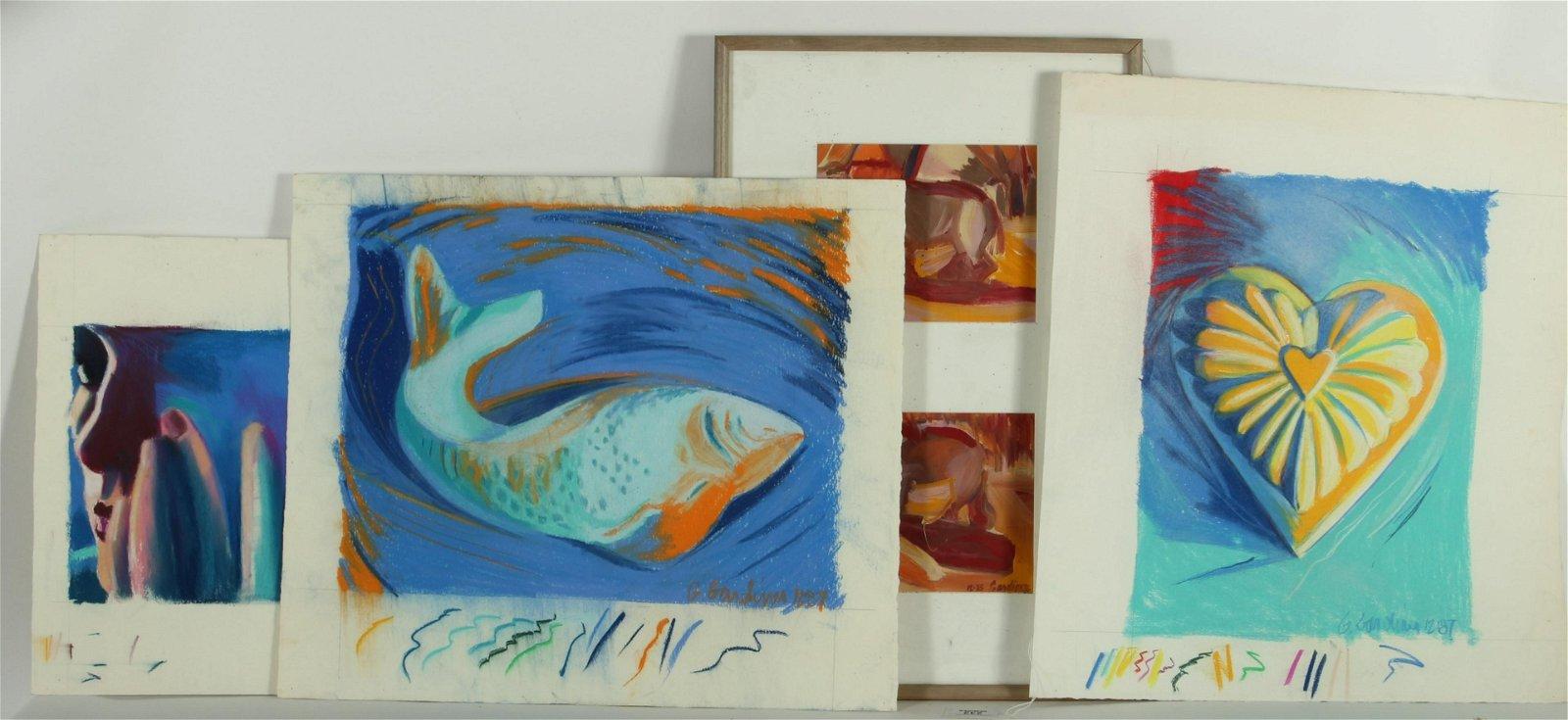 4 Ginnie Gardiner Pastelsand Acrylic on Paper