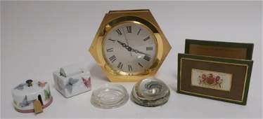 Tiffany Wall Clock, Limoges Desk Accessories