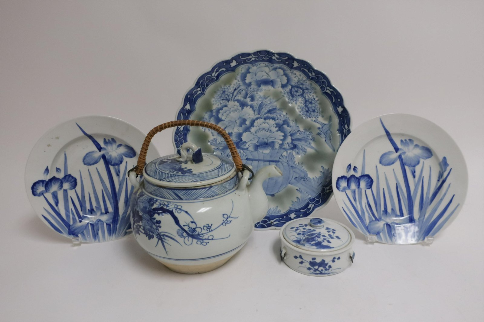Group of 5 Chinese Blue/White Porcelains
