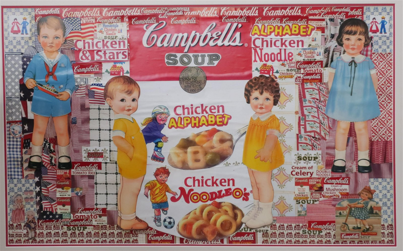 Campbell's Soup Themed Color Collage