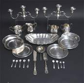 Sterling Silver Cartier Plates Sugars Creamers