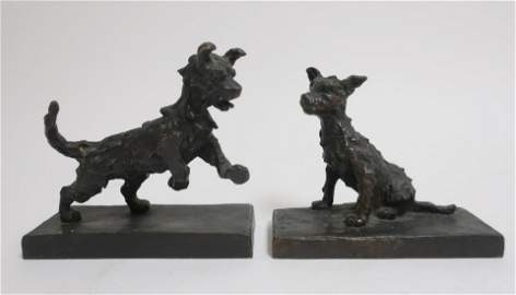 Edith Barretto Parsons, Two Bronze Terriers