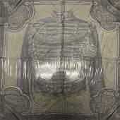 Hermes Brandebourgs Sheer Silk Scarf