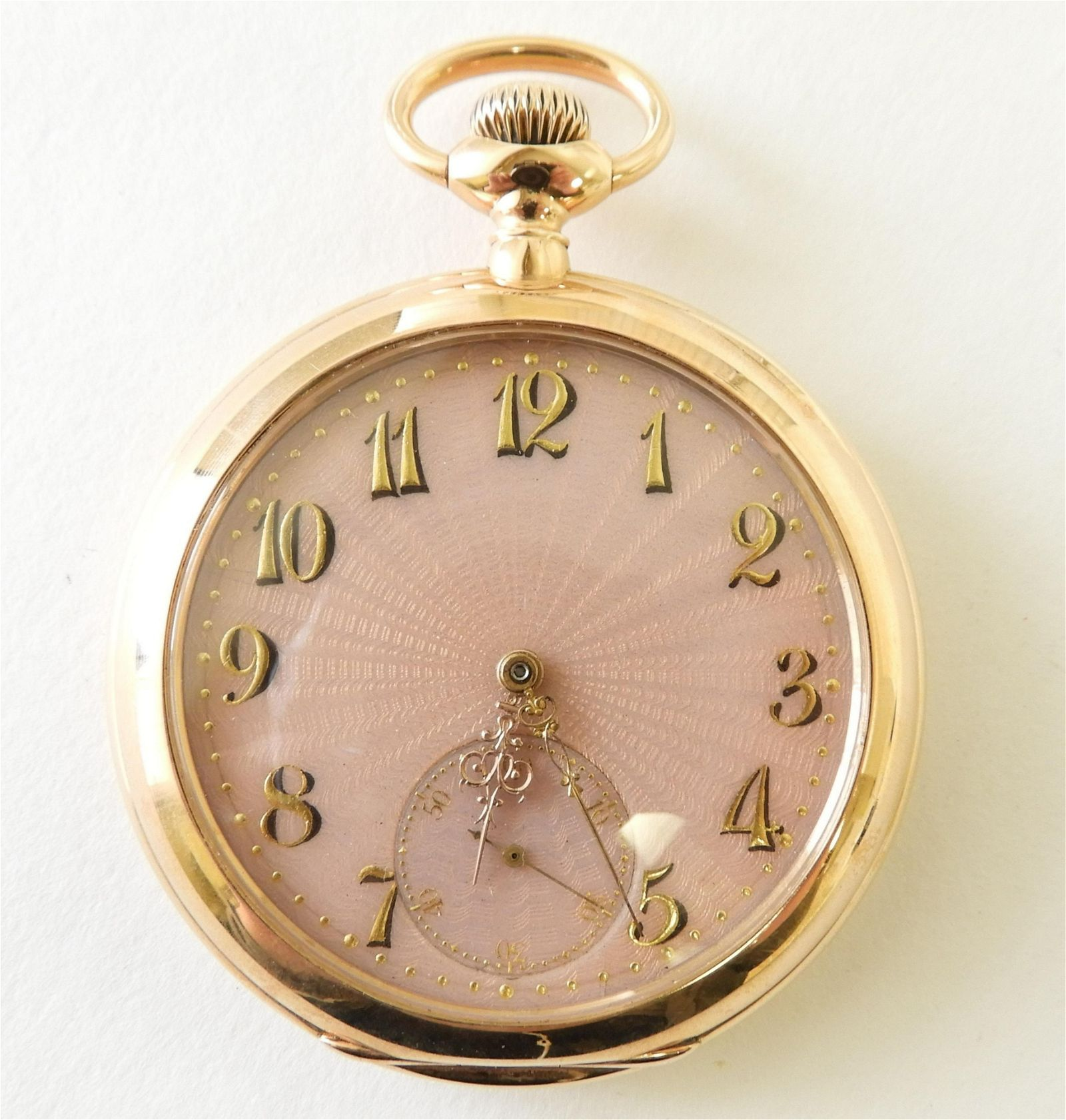 Patek Philippe 18k Rose Gold Pocket Watch