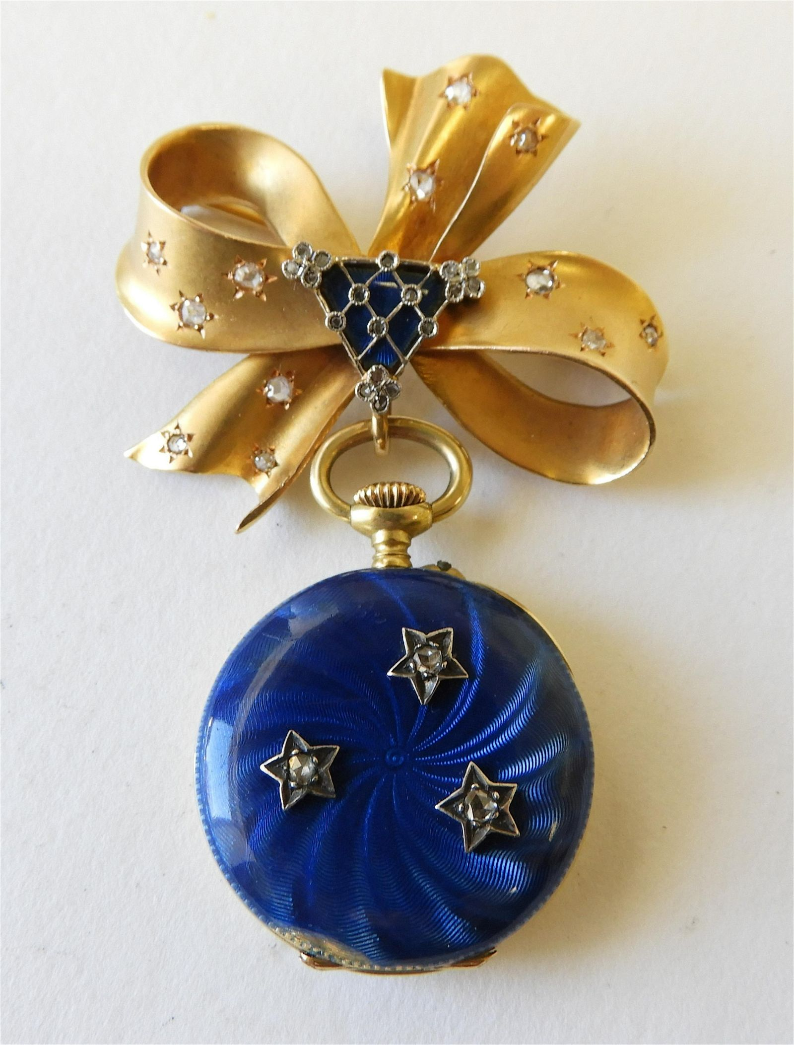 Tiffany & Co Pocket Watch with Associated Brooch
