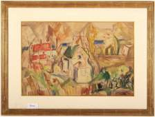 Theresa Ferber Bernstein Village Houses WC