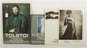 4 Posters: Tolstoy, Flaubert, 2 Drtikol