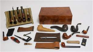 Dunhill Pipe Collection and Outfitted Humidor
