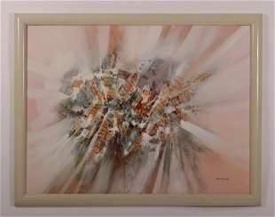 Sandrof 20th C Abstract Modern Mixed Media