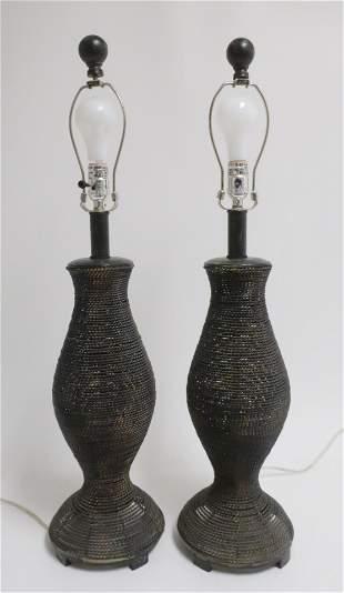 Pr Brutalist Style Urn Form Lamps