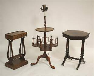 3 AccessFurn Library Hexagonal Lyre Tables