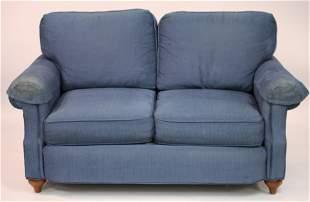 Blue Corduroy Love Seat by Harden 2009