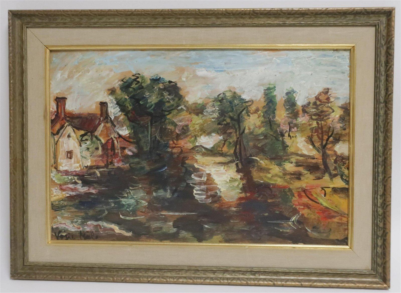 Vittorio Miele, It., Post-Impressionist Landscape