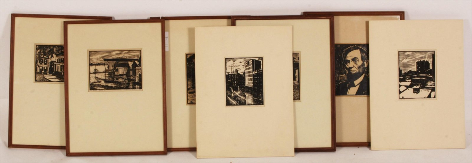 Norman Kent, 7 Woodblock Prints