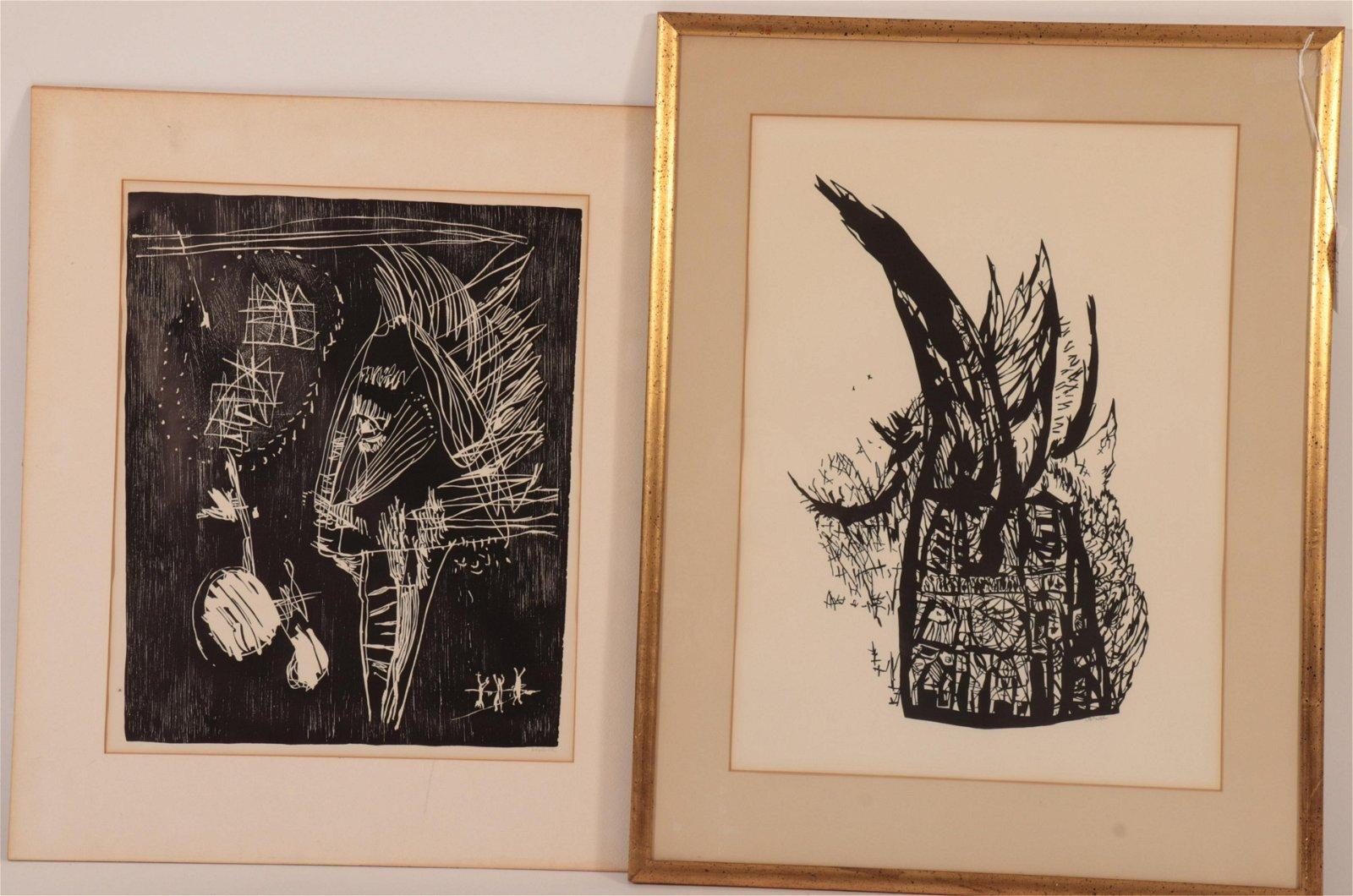 2 Arno Vihalemm (1911-1919) Woodblock Prints
